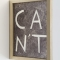 Shannon Finnegan, Can _ Can't, 2011-2012, Double-sided custom frame and pen 9 in x 12 in